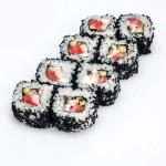 Киото|Состав:лосось, угорь, майонез, огурец, тобико 8шт. 230р