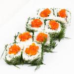 Сакура|Цена: 255 руб. 8шт. Состав:креветка, сыр, огурец, укроп, икра
